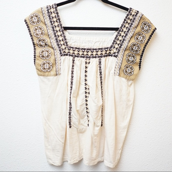 Lucky Brand Tops - Lucky Brand Sleeveless Embroidered Top